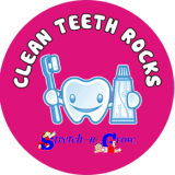 Children learn about looking after their teeth at Stretch-n-Grow classes.