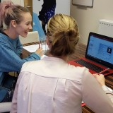 Lici & Kate tackle technical training.