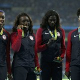 The US brings home more Olympic gold than any other country. But most American school kids wouldn't even bring home a tin, Dr Grant Tomkinson explains. Pictured:Women's 4 x 100 meter relay winners getting the gold  Read more: http://www.dailymail.co.uk/health/article-3832719/Why-kids-fit-world-change-it.html#ixzz4Msb2Gof0  Follow us: @MailOnline on Twitter | DailyMail on Facebook